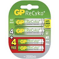 GP ReCyko HR6 (AA), 4 + 4 pcs blister