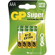 GP Super Alkaline LR03 (AAA) 6 + 2 pieces in blister
