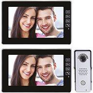 Emos Sada domácího videotelefonu s pamětí H1018 + Emos Přídavný domácí videotelefon s pamětí H1118 - Videotelefon