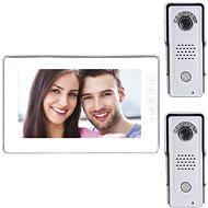 Souprava videotelefonu s pamětí EMOS H1019 s přídavnou antivandal kamerovou jednotkou H1128 - Videotelefon