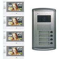 Souprava videotelefonů EMOS pro 4 nezávislé účastníky - Videotelefon