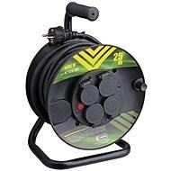 Emos Gumový prodlužovací kabel na bubnu - 4 zásuvky 25m - Napájecí kabel