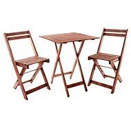 Happy Green Balkonový dřevěný set ACACIA, čtvercový stůl - Set