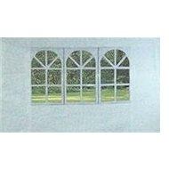 Vetro Plus-Seitenwände für Gartenlaube mit Fenster, weiß - Seitenwand