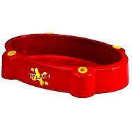 Pískoviště - bazének s bábovičkami červené - Pískoviště