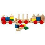 Bino Farebný drevený vláčik - Herná súprava