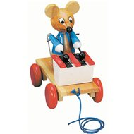 Bino Pull-mouse with a xylophone - Push and Pull Toy