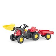 Pedal Farm tractor with a flatbed and a spoon