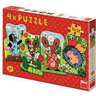 Dino Krteček 4v1 - Puzzle