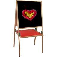 Woody Schwarz Tafel mit Regal - Tafel
