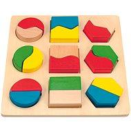 Woody Platte mit geometrischen Formen