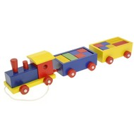 Woody Vlak a 2 vagóny s kockami