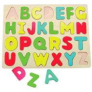 Woody Puzzle on the board - Alphabet
