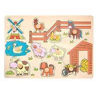 Woody Puzzle on board - Animals at the mill - Puzzle
