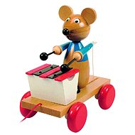 Wooden Pull-along mouse with xylophone