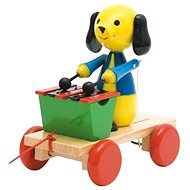 Woody Pull Dog with xylophone