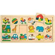 Woody puzzle auf dem Brett - Giraffe Suzie