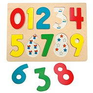 Woody Puzzle on Plate - Numbers with ladybirds