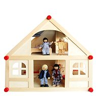 Small house with dolls