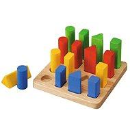 Deska s geometrickými tvary - Didaktická hračka