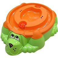 Pískoviště - bazének Pejsek zelené s oranžovým krytem