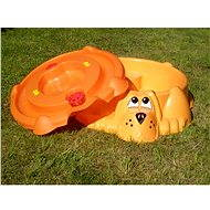 Doggy Pool/Sandpit Orange with Orange Lid - Sandpit