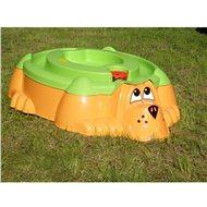 Pískoviště - bazének Pejsek oranžové se zeleným krytem