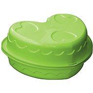 Sandbox - Herz-Pool mit Abdeckung grün