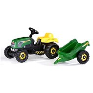 Rolly Kid Pedal Tractor with trailer - green - Pedal Tractor