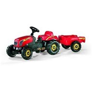 Rolly Kid Pedal Tractor with trailer - red