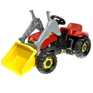 Rolly Kid Pedal tractor with a trailer and loader-red