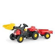 Rolly Kid Pedal Traktor mit einem Anhänger und loader-rot
