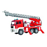 BRUDER MAN TGA - fire truck with extendable ladder, pump, lights and sounds
