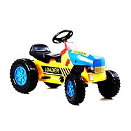 Pedal tractor G21 Classic yellow / blue