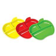Munchkin - Súprava farebných delených tanierov v tvare jablka - Súprava