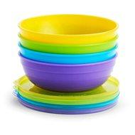 Munchkin – Set barevných misek s víčky a lžičkami - Set
