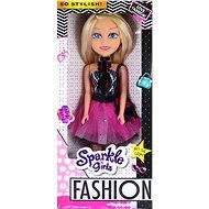 Sparkel Fashion Girlz doll with a skirt, blue / red