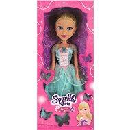 Sparkle Princess Girlz 50 cm in einem Kleid, blau / weiß