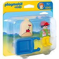 Playmobil Stavební dělník s kolečkem (1.2.3)