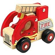 Bino Dřevěné auto hasiči - Auto