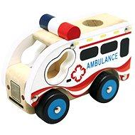 Bino Dřevěné auto ambulance - Auto