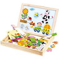 Bino Farm Magnetic Table with Puzzles