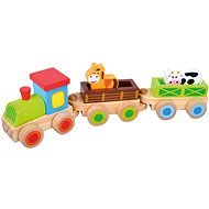 Bino Wooden Train with Animals - Train