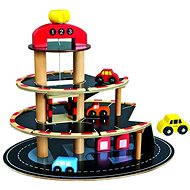Bino Wooden car park with lift - Play Set