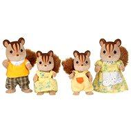 Familie der braunen Eichhörnchen Sylvanian Familie