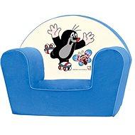 Bino Křesílko modré - Krteček - Dětský nábytek