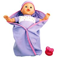 Talking doll in swaddling clothes - purple