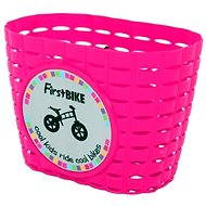 Pink basket on bicycle