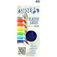 Shoeps - Silikon blau Schnürsenkel - Schuhbandset