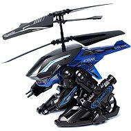 Helicopter Heli Beast - Heli Transbot - A helicopter with a bomb blue-black